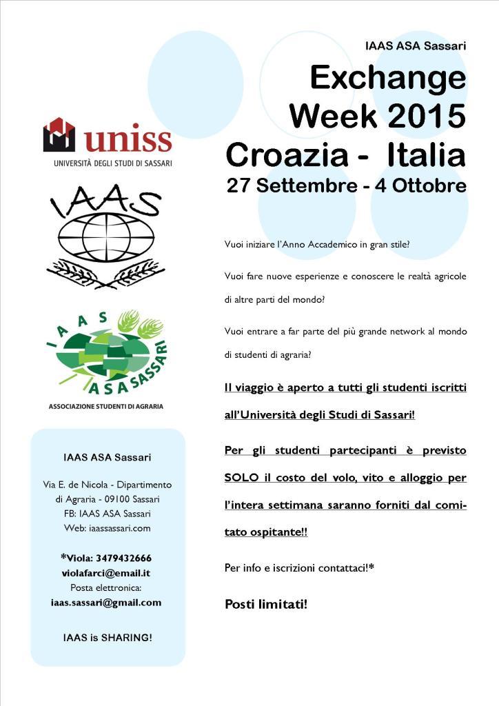 Locandina ExWeek 2015 Croazia Italia